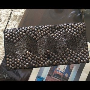 Urban Outfitters Ecote Chain Bronze Purse Clutch
